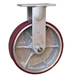 12 Inch Rigid Caster with Polyurethane Tread on Aluminum Core Wheel