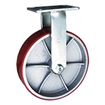 12 Inch Rigid Caster with Polyurethane Tread Wheel