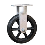 "12"" Rigid Caster with Rubber Moldon Wheel"
