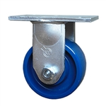 6 Inch Extra Heavy Duty Rigid Caster with Solid Polyurethane Wheel