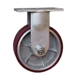 8 Inch Rigid Caster with Polyurethane Tread on Aluminum Core Wheel