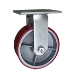 8 Inch Rigid Caster with Polyurethane Tread Wheel