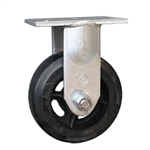Rigid Caster with Rubber on Iron Core Wheel
