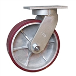 10 Inch Kingpinless Swivel Caster with Polyurethane Tread on ALuminum Core Wheel