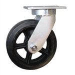 "10"" Kingpinless Swivel Caster with Rubber on Iron Wheel"