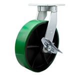 12 Inch Swivel Caster with Polyurethane Tread Wheel and Side Lock Brake