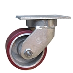 6 Inch Swivel Caster with Polyurethane Tread on Aluminum Wheel