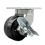 Kingpinless Swivel Caster with Phenolic Wheel and Side Lock Brake