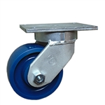 6 Inch Heavy Duty Kingpinless Swivel Caster with Polyurethane Wheel
