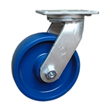 8 Inch Kingpinless Swivel Caster with Solid Polyurethane Wheel