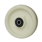 6 inch  solid Nylon caster wheel with Roller Bearings