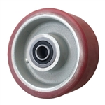 "4"" x 2"" Polyurethane on Aluminum Wheel with Ball Bearings"