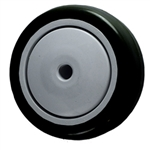 "3-1/2"" x 1-1/4"" Black Polyurethane on Poly Wheel"