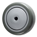 "3-1/2"" x 1-1/4"" Blue Polyurethane on Poly Wheel for Casters and Equipment"