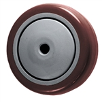 "3-1/2"" x 1-1/4"" Maroon Polyurethane on Poly Wheel"