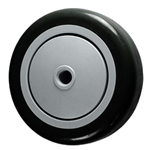 "4"" x 1-1/4"" Black Polyurethane on Poly Wheel"