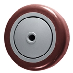 "4"" x 1-1/4"" Maroon Polyurethane on Poly Wheel"