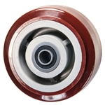 "4"" x 2"" Polyurethane on Poly Wheel with Ball Bearings"