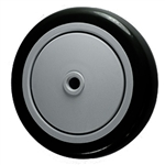 "5"" x 1-1/4""  Black Polyurethane on Poly Wheel"