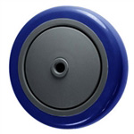 "5"" x 1.25""  Blue Polyurethane on Poly Wheel"