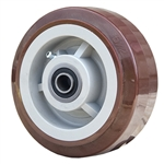 "5"" x 2"" Polyurethane on Poly Wheel with Ball Bearings"