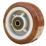 "5"" x 2"" Polyurethane on Poly Wheel"
