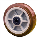 "6"" x 2"" Polyurethane on Poly Wheel"