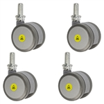 2 inch gray threaded stem MRI safe casters