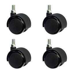 2 Quot Office Chair Casters Metric 10mm Threaded Soft Tread