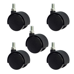 2 Quot Office Chair Casters Metric 8mm Threaded Set Of 5