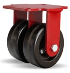 5 Inch dual wheel Rigid Caster with phenolic wheels