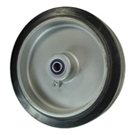 "8"" x 2"" rubber on Aluminum Wheel with Ball Bearings"