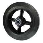 "8"" x 2"" rubber on cast iron wheel with ball bearings"