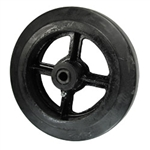 "8"" x 2"" rubber on cast iron wheel"