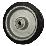 "10"" x 3"" rubber on cast iron drive wheel with metric bore"
