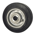 "5"" x 2"" rubber on cast iron drive wheel"
