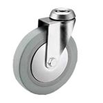 5 inch swivel caster with bolt hole for hospital applications