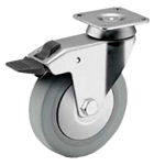 5 inch total lock swivel caster for hospital applications
