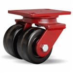 4 Inch dual wheel Swivel Caster with phenolic wheels