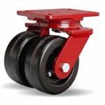 5 Inch dual wheel Swivel Caster with phenolic wheels