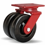 6 Inch dual wheel Swivel Caster with phenolic wheels