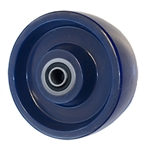 5 inch  heavy duty solid Polyurethane caster wheel with Ball Bearings
