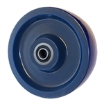 6 inch  heavy duty solid Polyurethane caster wheel with Ball Bearings