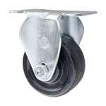 Stainless Steel Rigid Caster with Hard Rubber Wheel