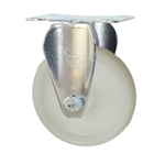 4 Inch Stainless Steel Rigid Caster with White Nylon Wheel