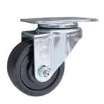 3 Inch Stainless Steel Swivel Caster with Hard Rubber Wheel