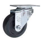 3-1/2 Inch Stainless Steel Swivel Caster with Hard Rubber Wheel