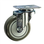 "4"" Stainless Steel Swivel Caster with Polyurethane Tread"