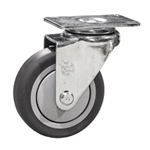 "4"" Stainless Steel Rigid Caster with Thermoplastic Rubber Tread Wheel"