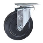 5 Inch Stainless Steel Swivel Caster with Hard Rubber Wheel